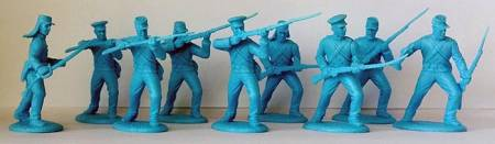 U.S. Militia Infantry in Shell Jackets Sky-Blue Plastic