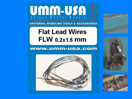 Flat Lead Wires 0.2 X 1.5mm
