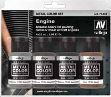 Aircraft Engine Metal Color Paint Set (4 Colors)