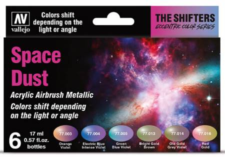 Space Dust Colorshift Metallic Paint Set (6 Colors)