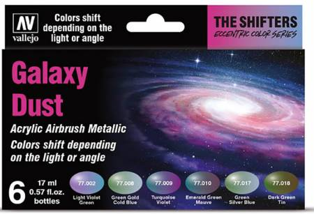 Galaxy Dust Colorshift Metallic Paint Set (6 Colors)