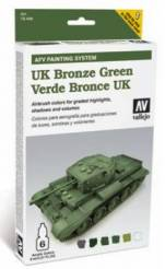 Vallejo AFV Armour Painting System: UK Bronze Green Set