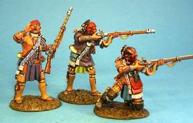 WOODLAND INDIANS WITH MUSKETS #WIM-02 - 1 AVAILABLE OOP