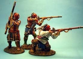 WOODLAND INDIANS WITH MUSKETS #WIM-03 - 1 AVAILABLE OOP