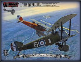Sopwith F.1 Camel and LVG C.VI