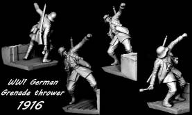 WWI German Defending the Position Vignette #3 - Grenade Thrower