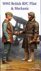 WWI British RFC Pilot and Mechanic