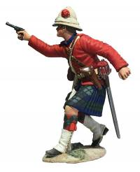42nd Highlander Company Officer Firing Pistol
