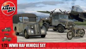 WWII RAF Vehicles: Light Utility Vehicle, Bedford Truck & BDA M20 Motorcycle