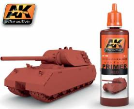 AK Red Acrylic Primer 60ml Bottle