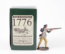 King & Country 1776 American Revolution Standing Firing #AR04 NIB 1 Available OOP