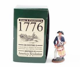 King & Country 1776 American Revolution PA Rgt Drummer #AR08 NIB 1 Available OOP