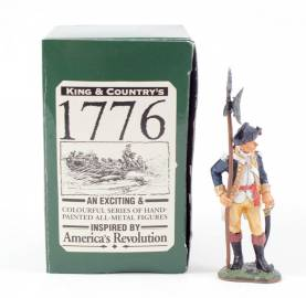 King & Country 1776 American Revolution Continental Officer With Pike #AR27 NIB 1 Available OOP