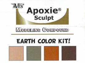 Apoxie Sculpt Color Kit - Earth Tones