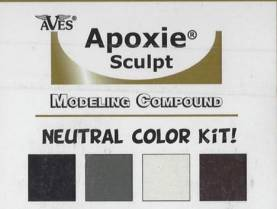 Apoxie Sculpt Color Kit - Neutral Tones