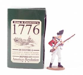 King & Country 1776 American Revolution British Fusilier At The Ready #BR02 NIB 1 Available OOP