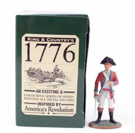 King & Country 1776 American Revolution British Fusilier Officer #BR03 NIB 1 Available OOP