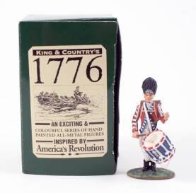 King & Country 1776 American Revolution British Fusilier Drummer #BR11 NIB 1 Available OOP