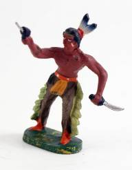 Elastolin 6812 Composition Indian With Pistol