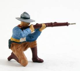 Elastolin 6864 Composition Cowboy Kneeling Firing Rifle