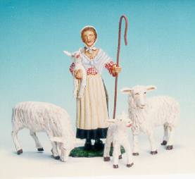 COLONIAL CLASSICS SHEPHERD WITH LAMBS #CC6 -1 AVAILABLE OOP