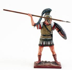 Carthaginian Warrior w/ Spear And Shield