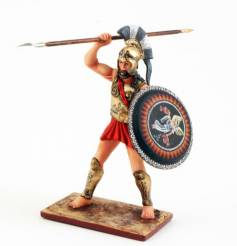 Greek Hoplite With Spear And Shield 3710