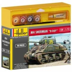 WWII U.S. M4 Sherman Tank with Paint & Glue