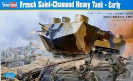 WWI French St. Chamond Heavy Tank (Early)