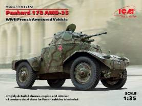 WWII Panhard 178 AMD35 French Armored Vehicle (New Tool)