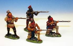 WOODLAND INDIANS FIRING RIFLES #IW1 -1 AVAILABLE OOP