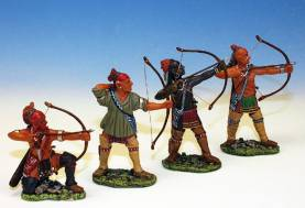 WOODLAND INDIANS FIRING BOWS #IW3 -1 AVAILABLE OOP