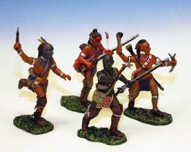 WOODLAND INDIANS ATTACKING #IW4 -1 AVAILABLE OOP