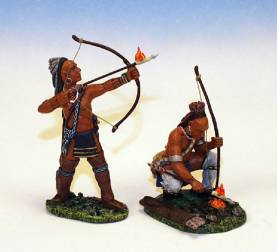 WOODLAND INDIANS WITH BOWS #IW6-1 AVAILABLE OOP
