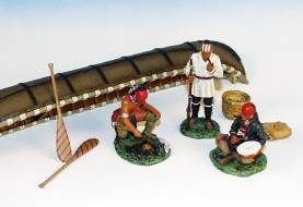 INDIANS RESTING BY CANOE #IWC3-1AVAILABLE OOP