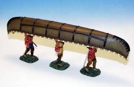 INDIANS CARRYING CANOE #IWC4 - 1 AVAILABLE OOP