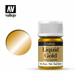 Alcohol Based Metallic Red Gold 35ml Bottle 215