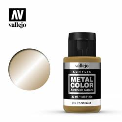 Vallejo Metal Color: Gold Metal Color 32ml Bottle