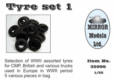 Assorted Tires Set 1 for WWII CMP/British Trucks (5)