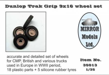 Dunlop Trak Grip 9x16 Wheel/Tire Set for WWII CMP/British Trucks (5)