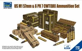 US M1 57mm & 6 PR7 CWT(BR) Ammunition Set