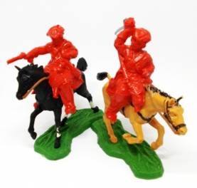 British Revinue Men- Mounted in Red