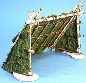 BATTLE ON SNOWSHOES 1758 - WINTER BUSH TENT #SRR-08 - 1 AVAILABLE OOP