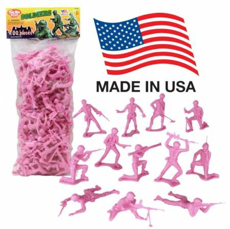 TimMee Classic Plastic Army Men in Pink