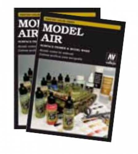 Model Air, Washes & Primers Hand Painted Color Swatch Book - ZOOM in