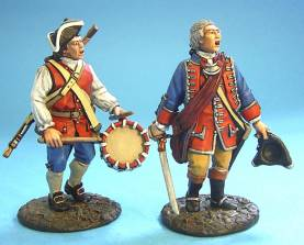 BATTLE ON THE MONONGAHELA 1755 - VIRGINIA OFFICER AND DRUMMER #VM-01 - 1 AVAILABLE OOP