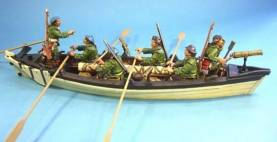 RAID ON ST FRANCIS 1759 - WHALEBOAT WITH RANGERS #WHRR-01 - 1 AVAILABLE OOP
