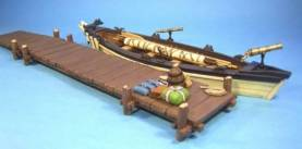RAID ON ST FRANCIS 1759 - WHALEBOAT AND JETTY #WHRR-02 - 1 AVAILABLE OOP