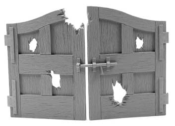 Damaged Wooden Carriage Gate Doors