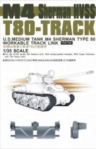 M4 Sherman HVSS T84 Workable Track Links, US Medium Tank Type 80